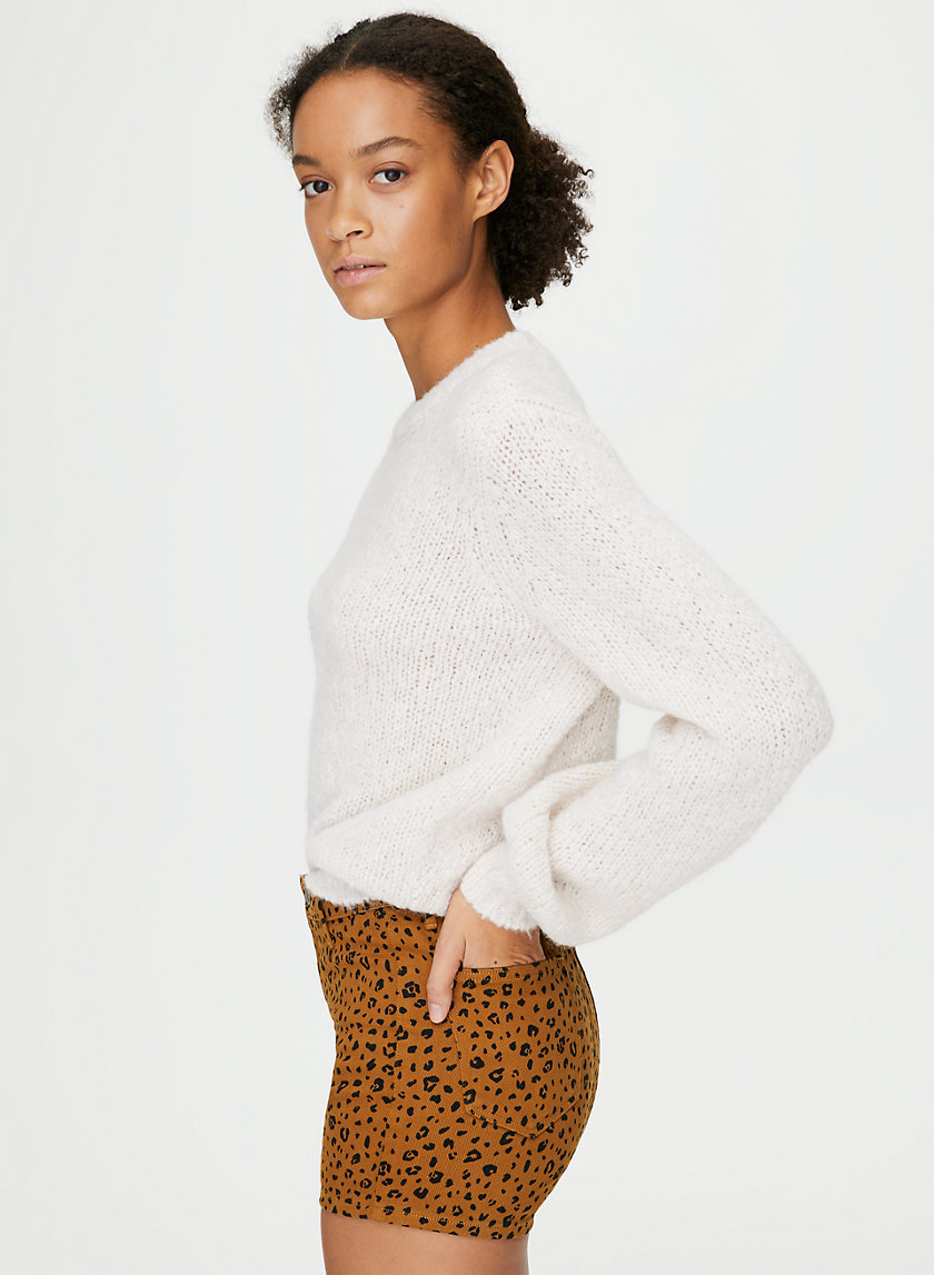 MOLLY SHORTY SHORT - High-waisted leopard-print shorts