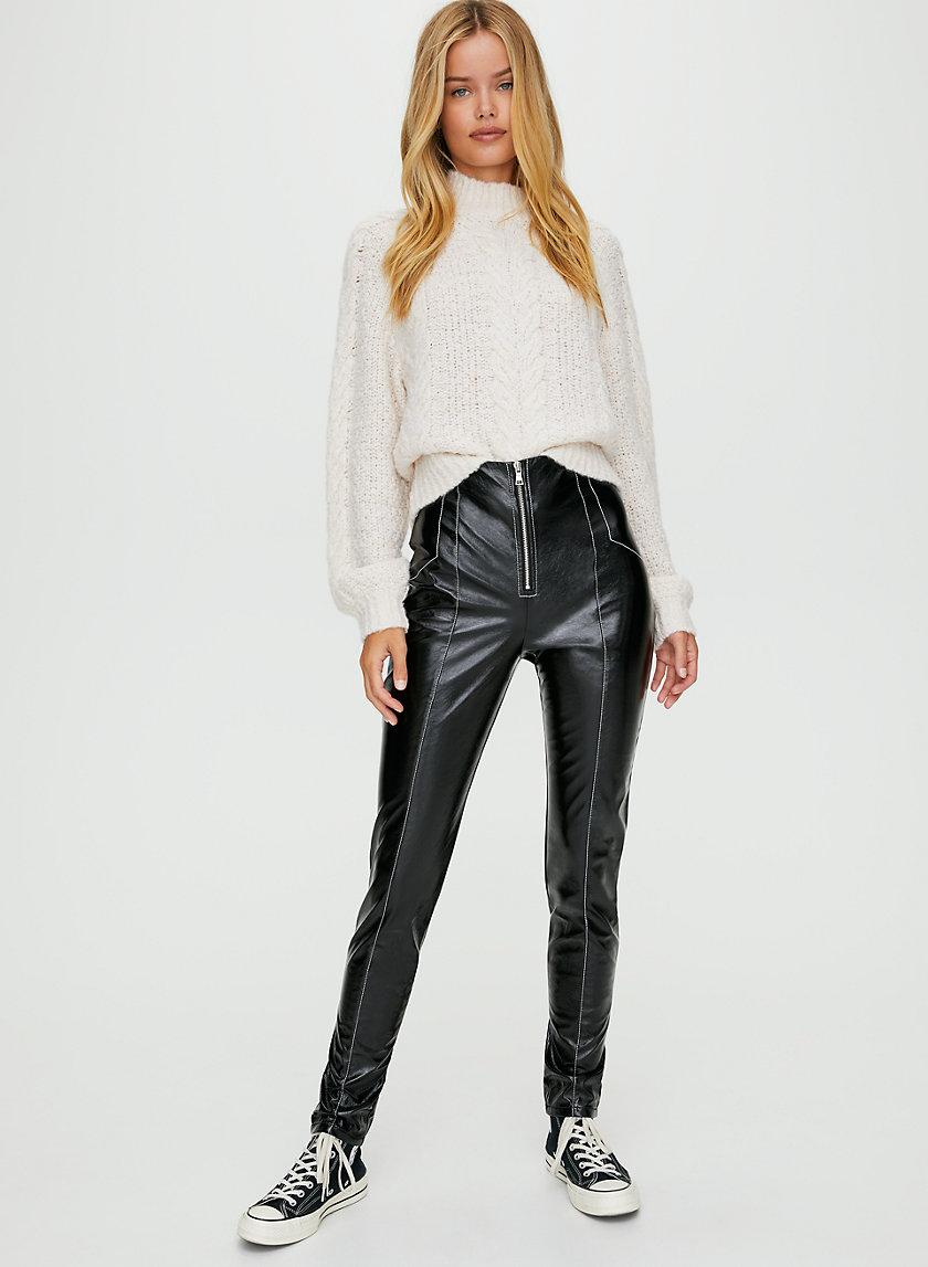 TESSY PANT - Faux leather moto pants
