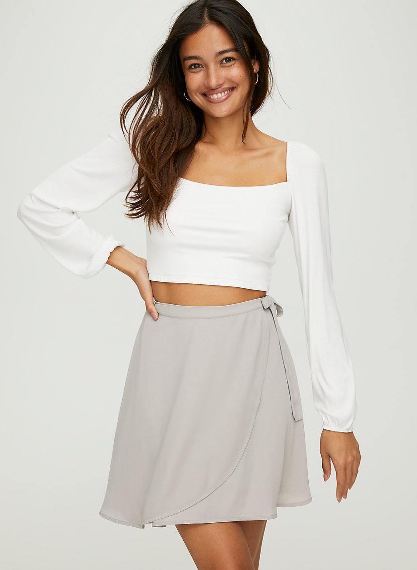 ARIEL SKIRT - Flowy, wrap mini skirt