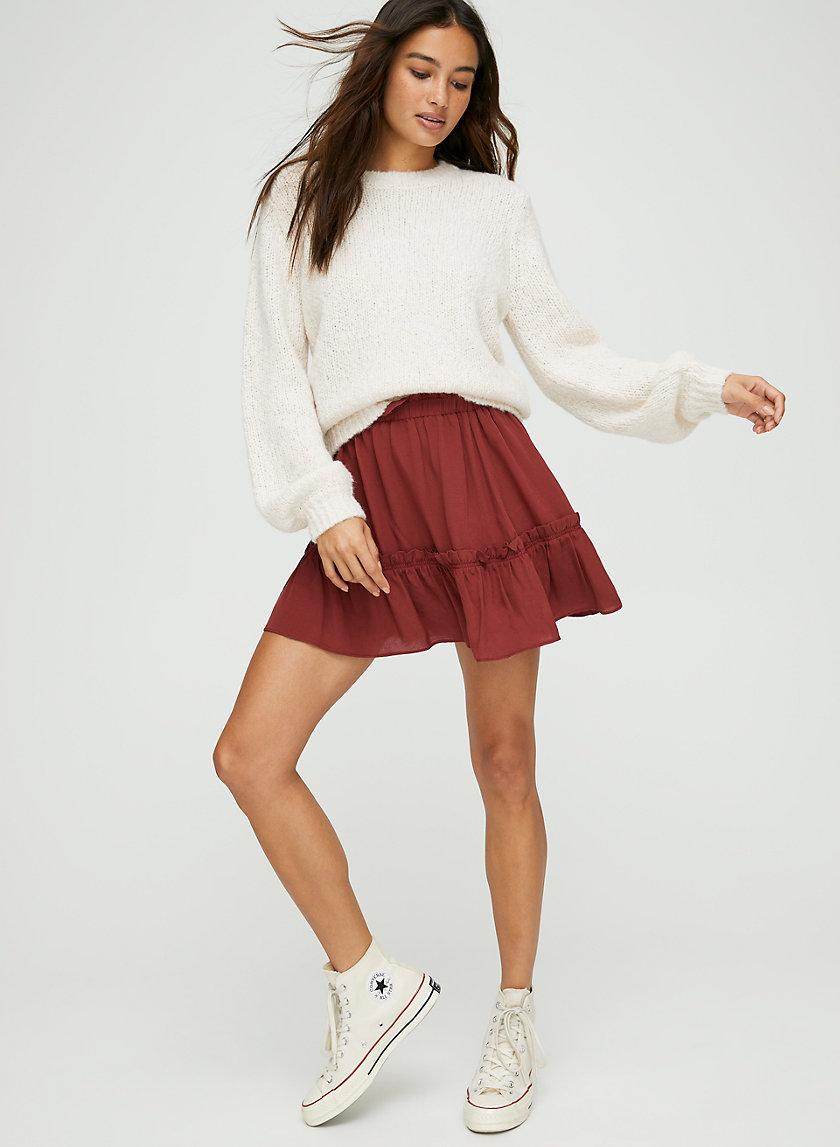 TRIXIE SKIRT - Flouncy A-line mini skirt