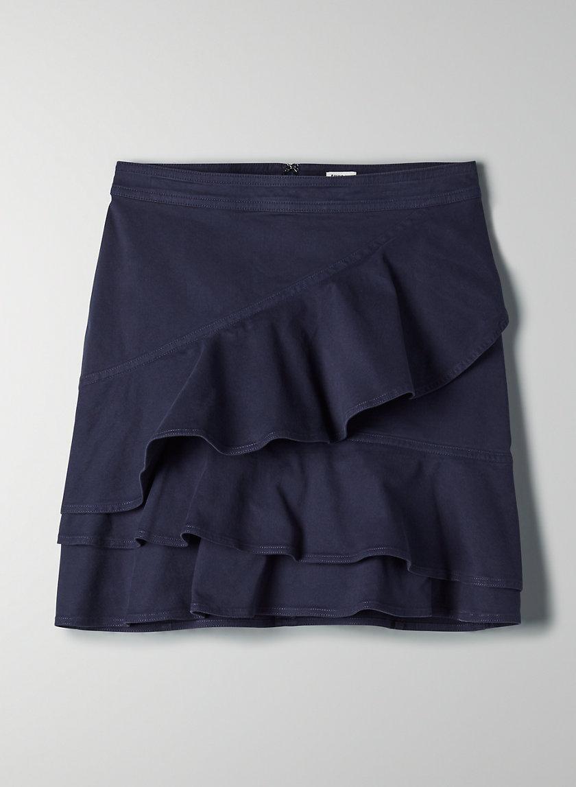 WHITNEY SKIRT - Ruffled A-line mini skirt