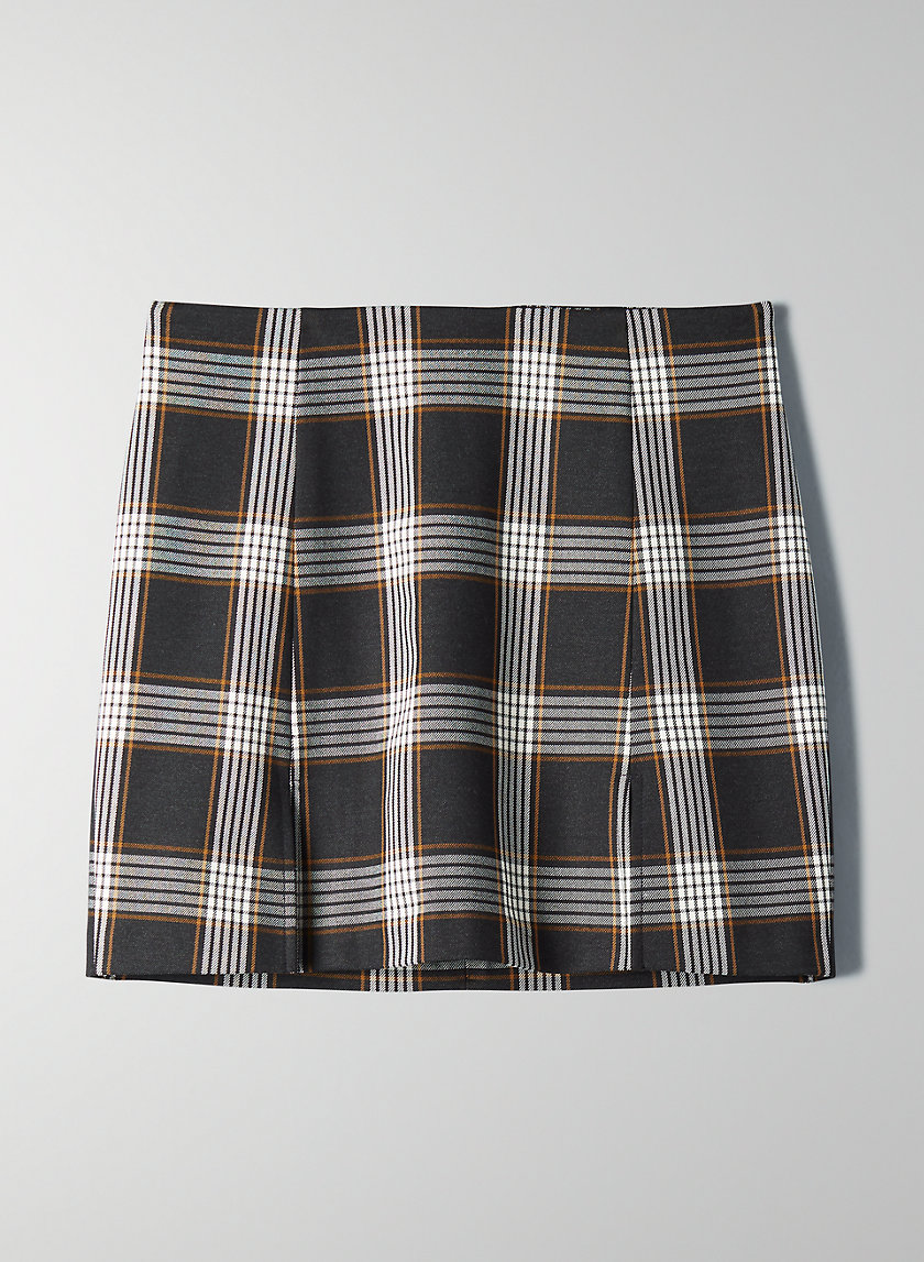 MANDY CHECK SKIRT - Check mini skirt