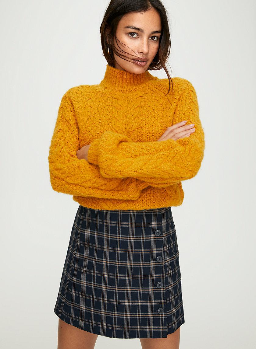CHANTAL CHECK SKIRT - High-waisted plaid mini-skirt
