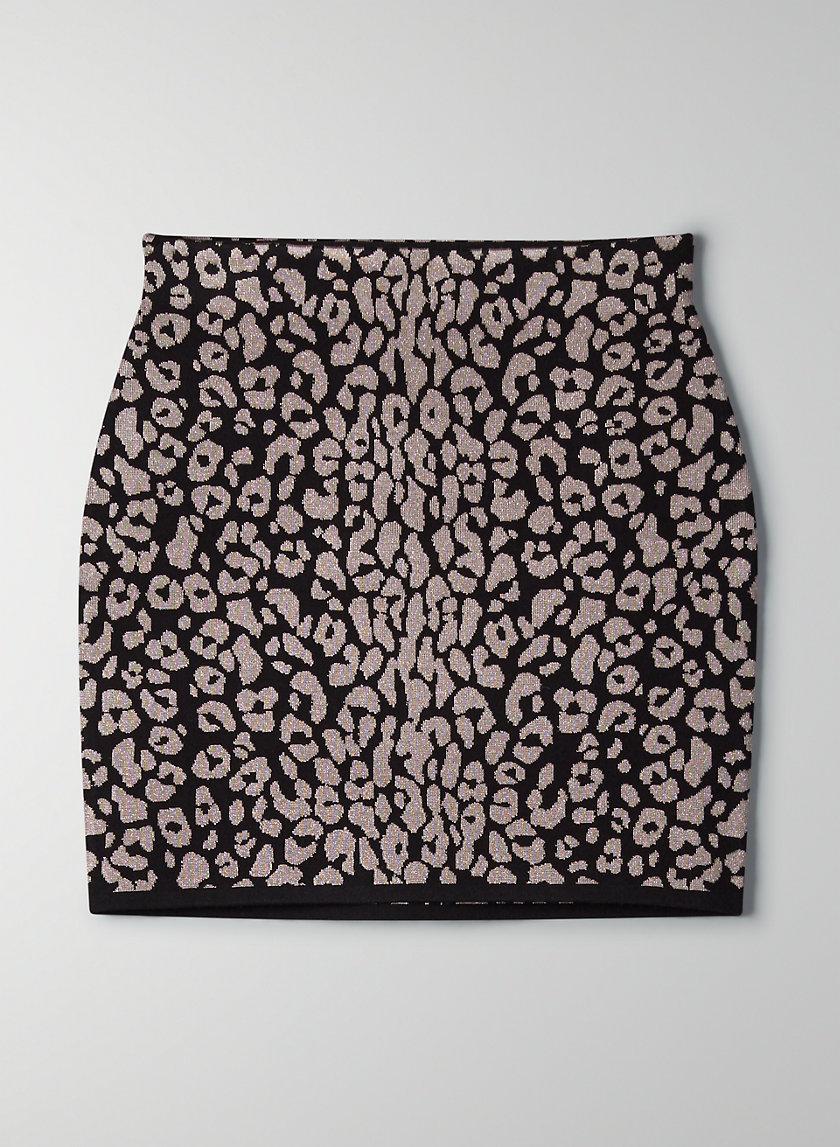 VOLPE SKIRT - Leopard bodycon skirt