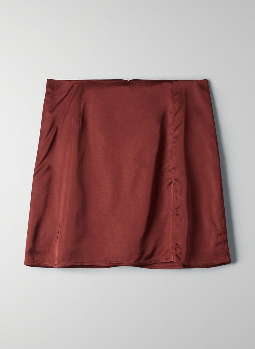 TATIANA SKIRT - Satin mini skirt