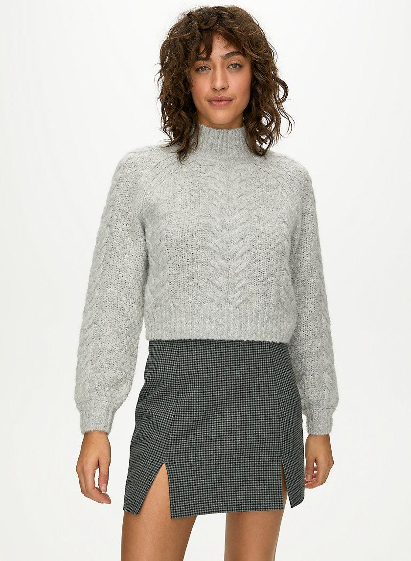 NOTCHED CHECK SKIRT - Check mini skirt