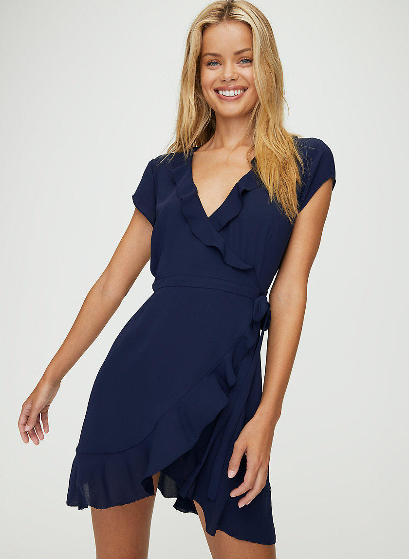 SAVOY DRESS - Ruffled, wrap dress