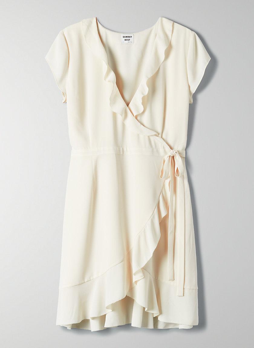 SAVOY DRESS - Ruffled, wrap dress