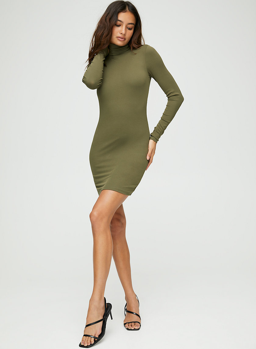 MOCK NECK DRESS - Mock-neck mini dress