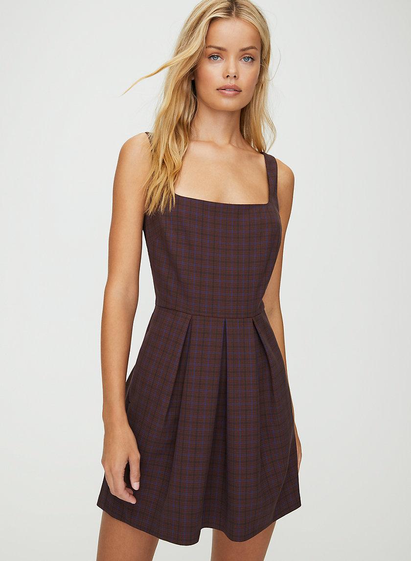 TASHA CHECK DRESS - Sleeveless check-print mini dress