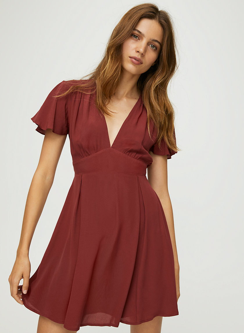FLUTTER MINI DRESS - Fit-and-flare mini dress