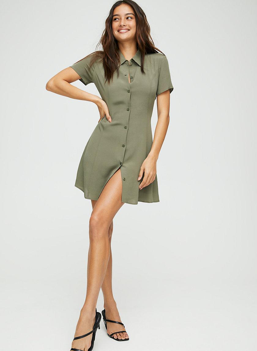 WINNIE DRESS - Fit-and-flare collared mini dress