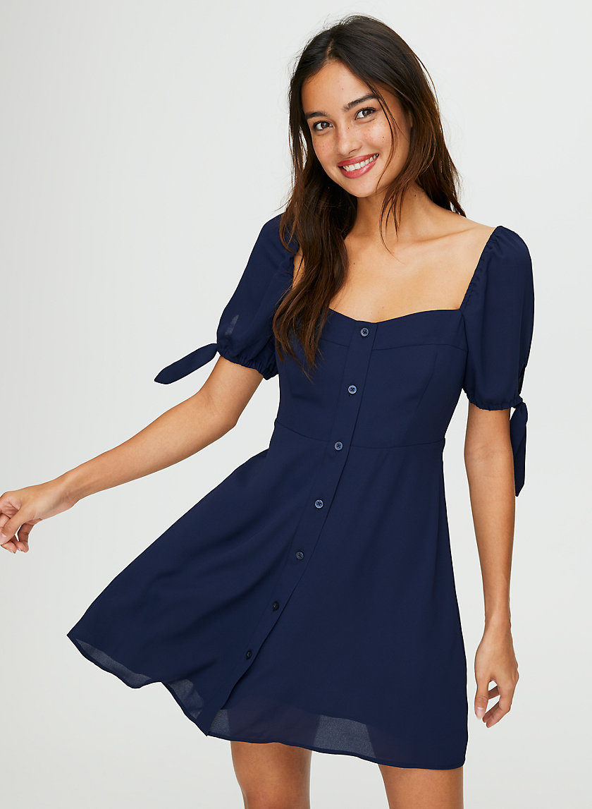 IMOGEN DRESS - Fit-and-flare puff-sleeve dress