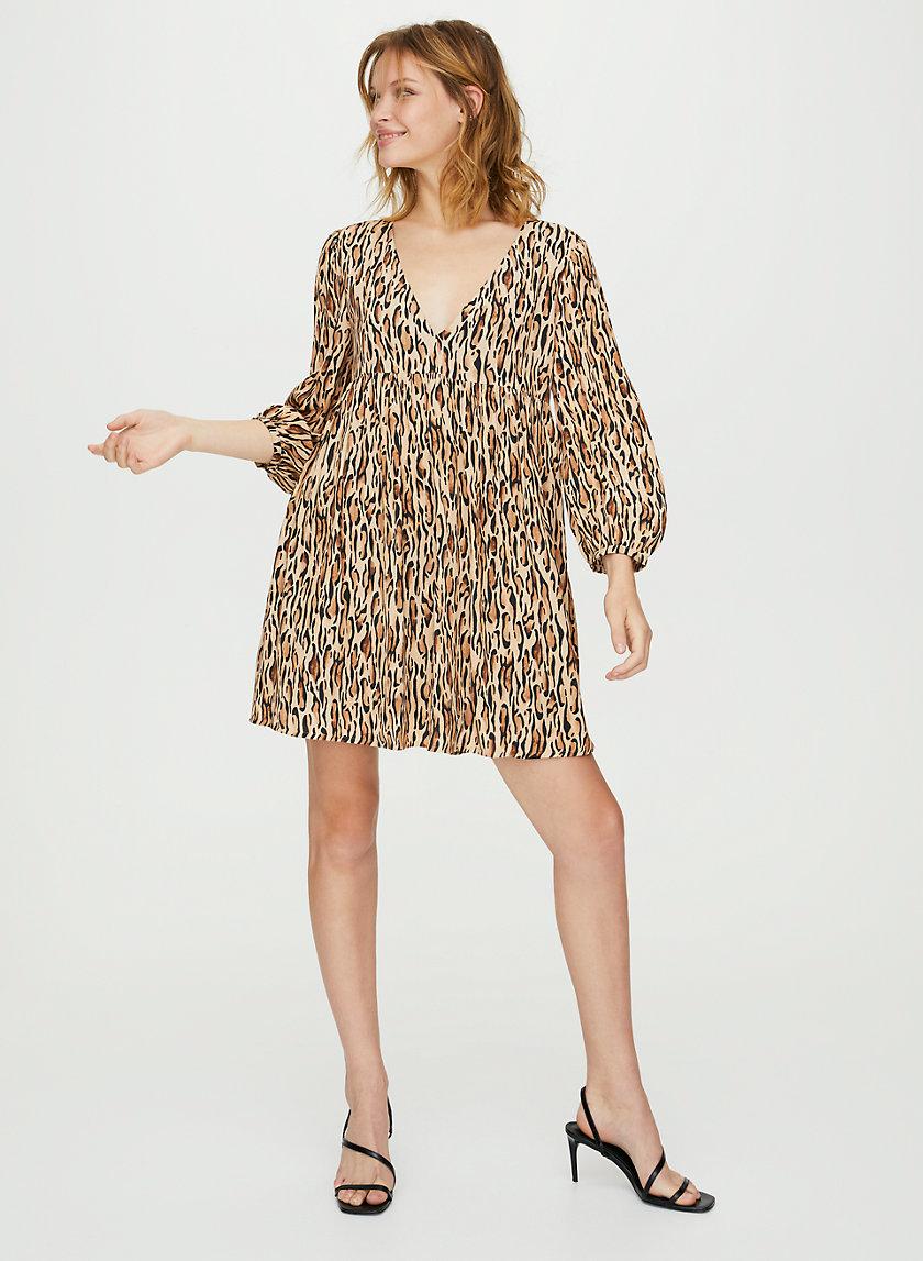 JINX DRESS - Leopard babydoll dress