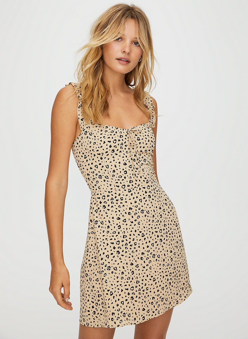 FLIRT RUFFLE DRESS - Fit-and-flare ruffled dress