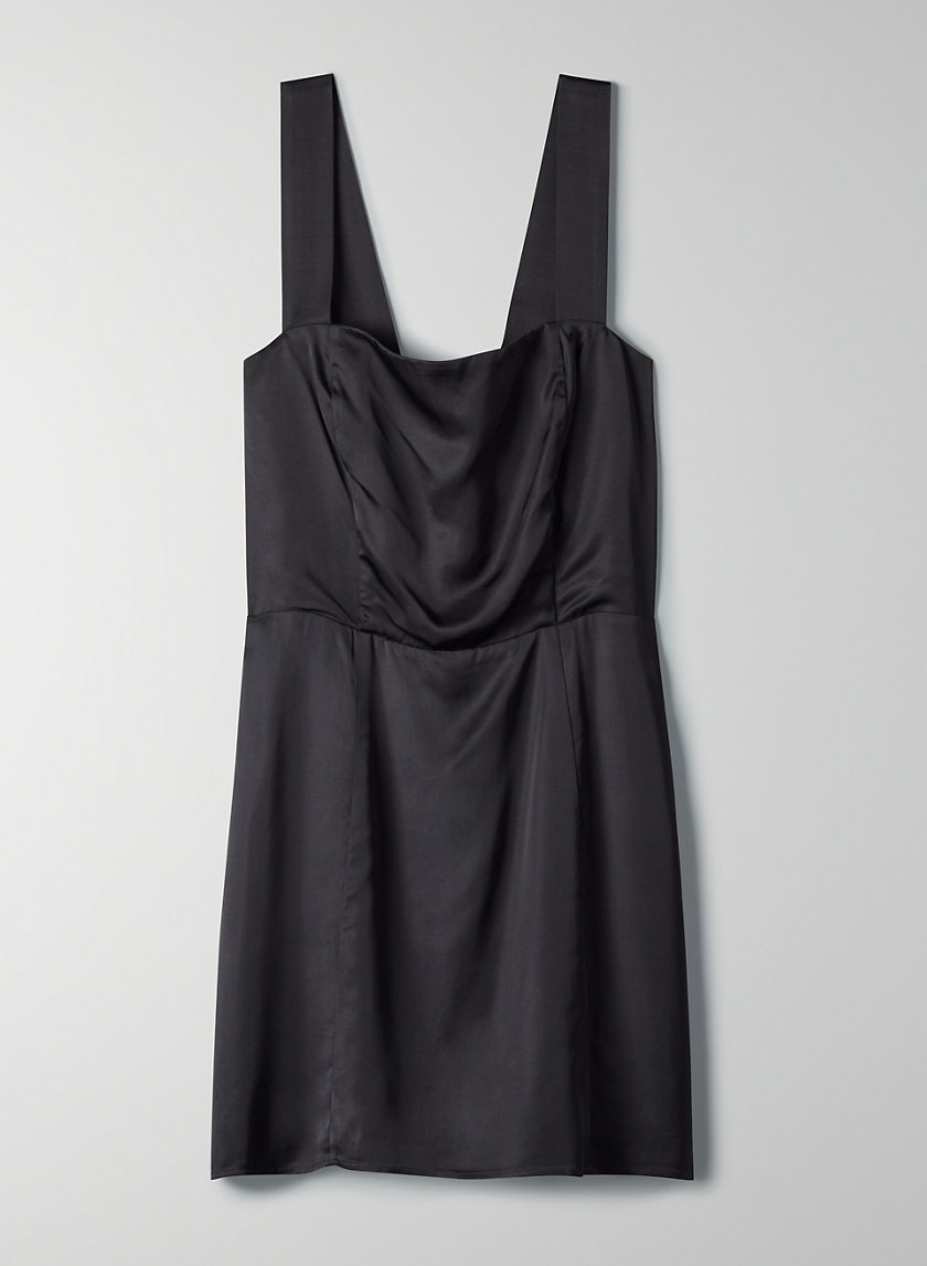 TATIANA DRESS - Satin mini dress