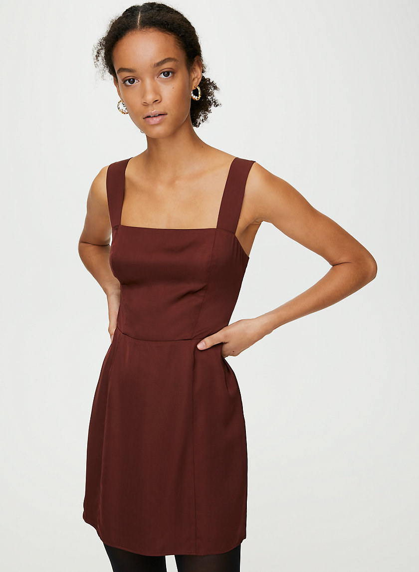 TATIANA DRESS - Satin mini dress