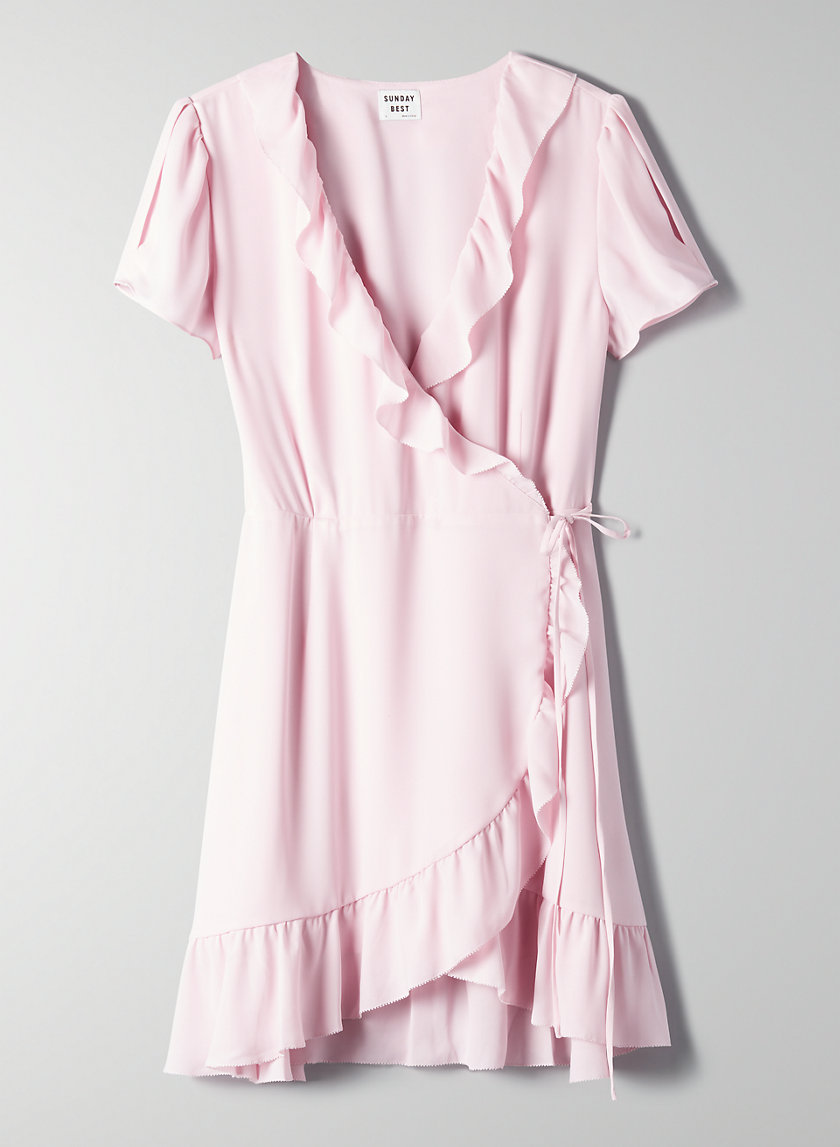 RUFFLE WRAP DRESS - Ruffled wrap dress