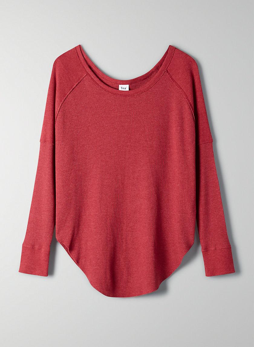 ALDER THERMAL - Long-sleeve waffle-knit shirt