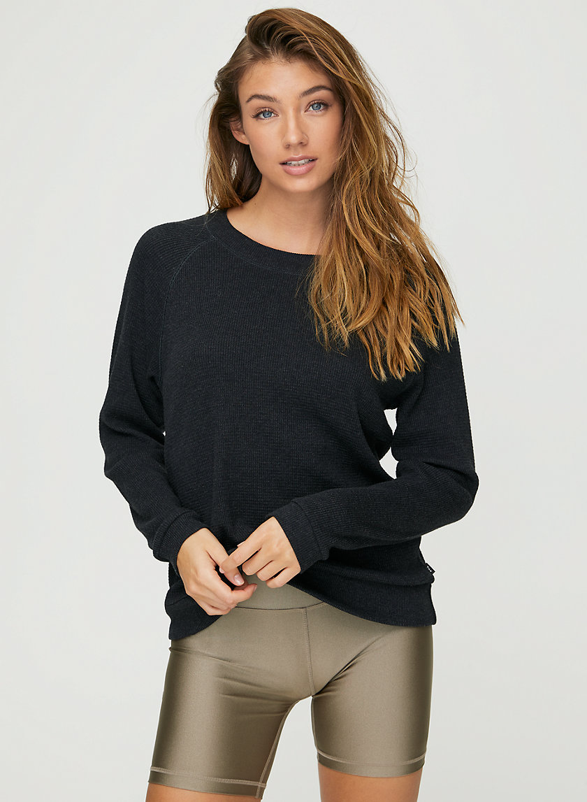 ANDREWS THERMAL - Waffle-knit thermal top