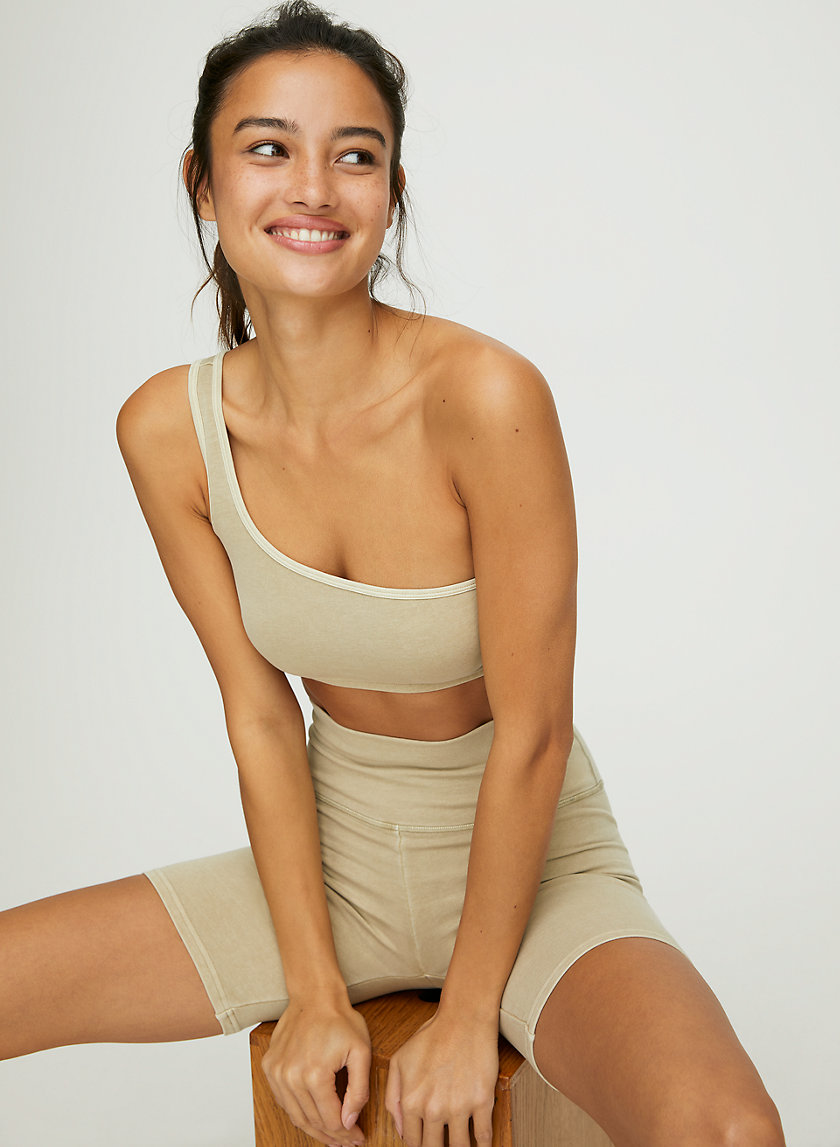ONE SHOULDER BRA TOP - Sporty one-shoulder bra top