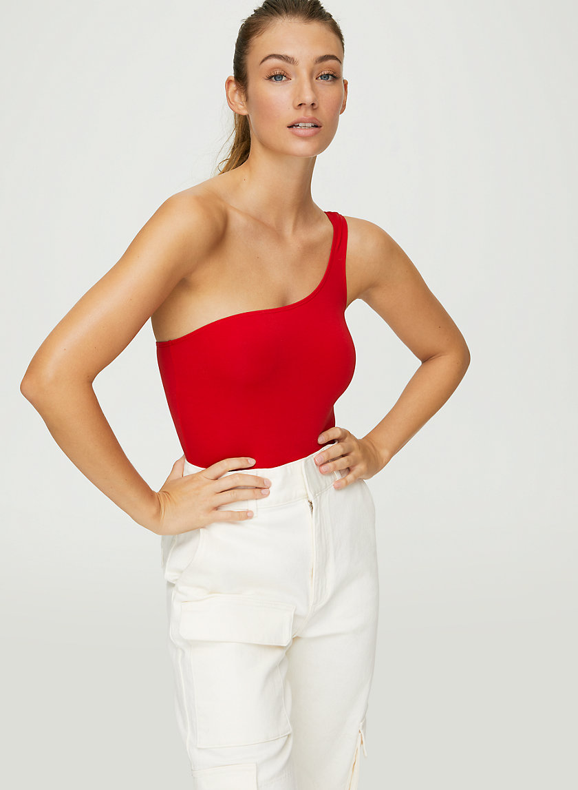 '90S LAGUNA BODYSUIT - One-shoulder bodysuit