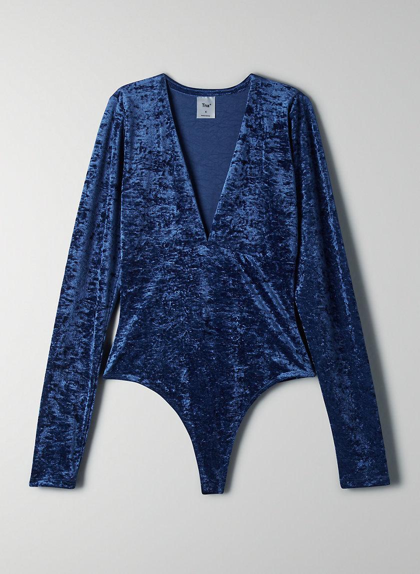 HOLLYWOOD VELVET BODYSUIT - Long-sleeve velvet bodysuit