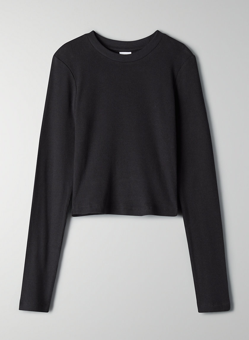 CROPPED RIB LONGSLEEVE - Cropped long-sleeve top