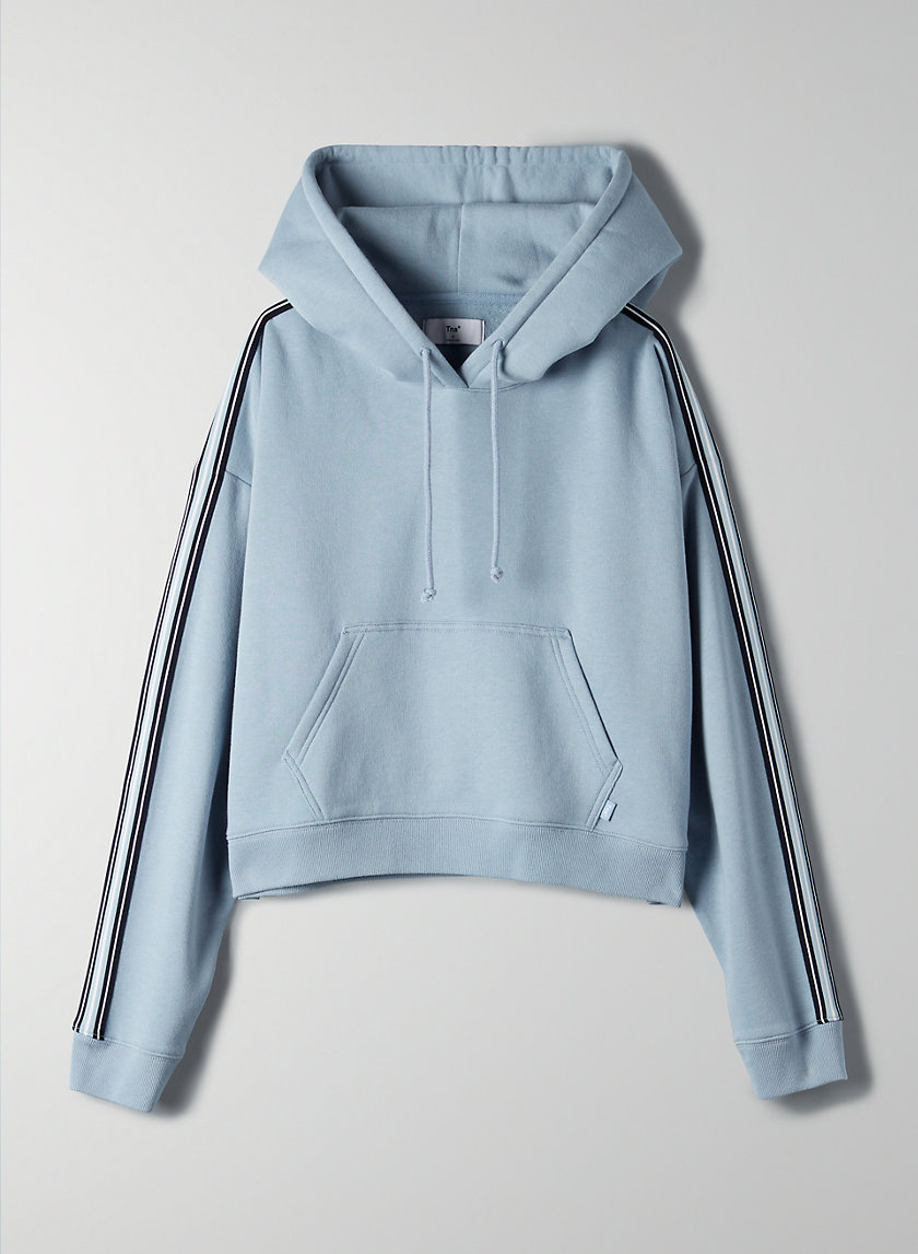 THE ICONIC HOODIE - Cropped hoodie with side stripe