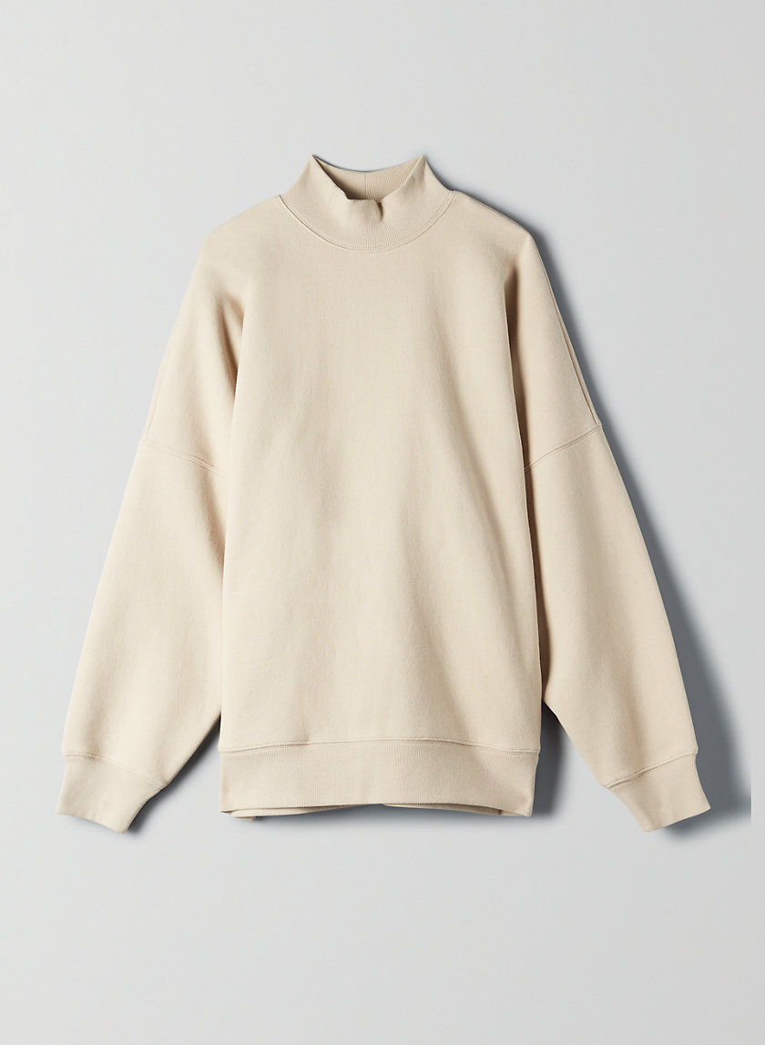 MOCKNECK SWEATSHIRT - Oversized, mock-neck sweatshirt