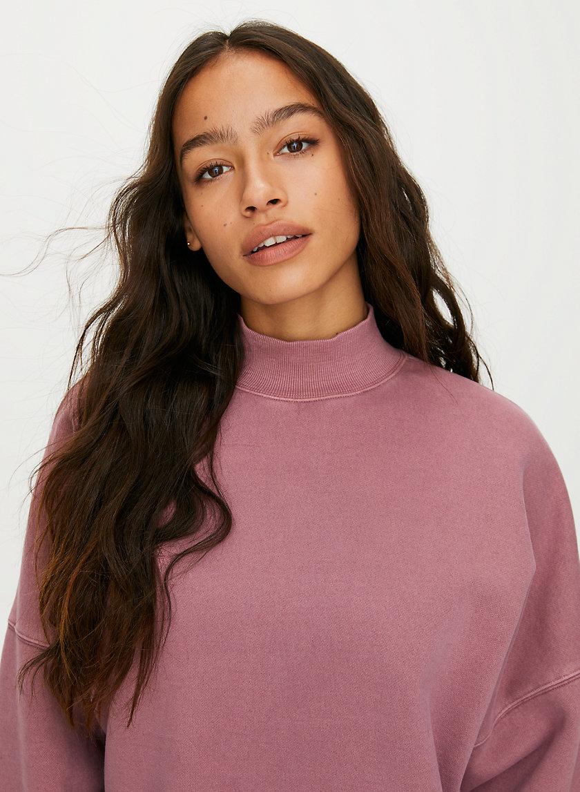 MOCKNECK SWEATSHIRT - Oversized, mock-neck sweatshirt