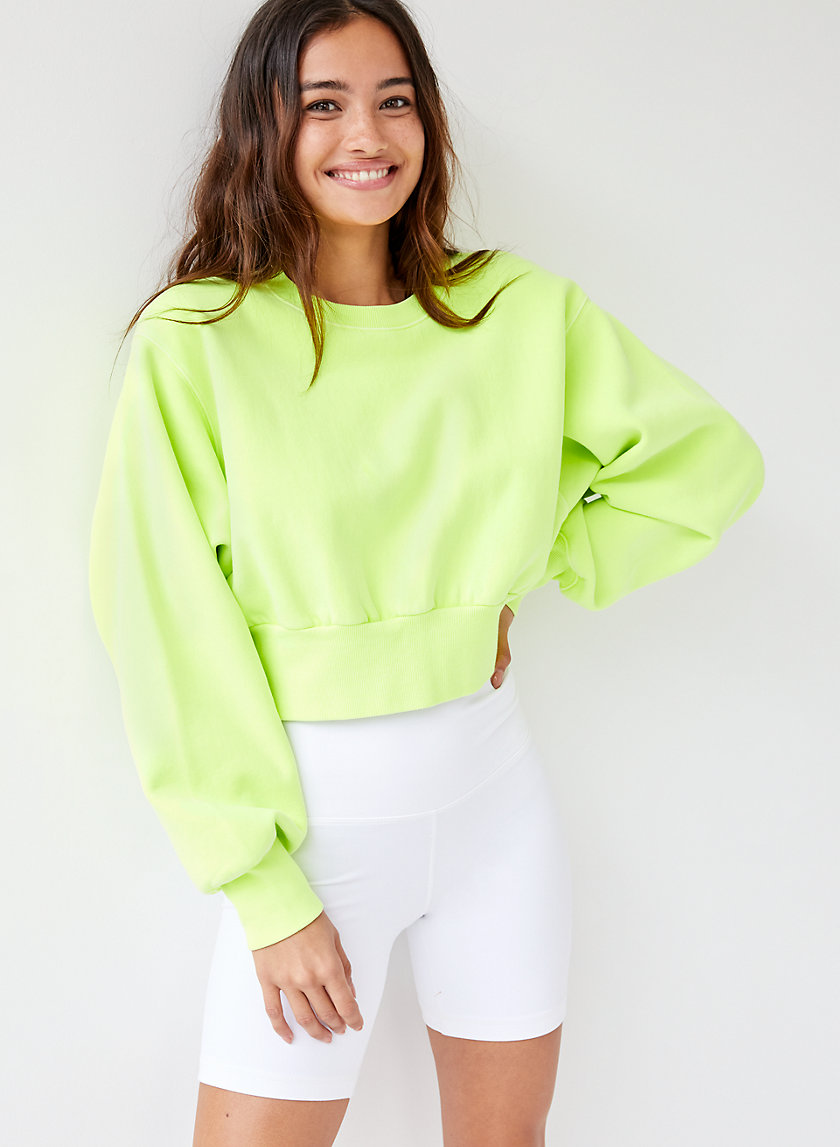 PERKINS SWEATSHIRT - Cropped crew-neck sweatshirt
