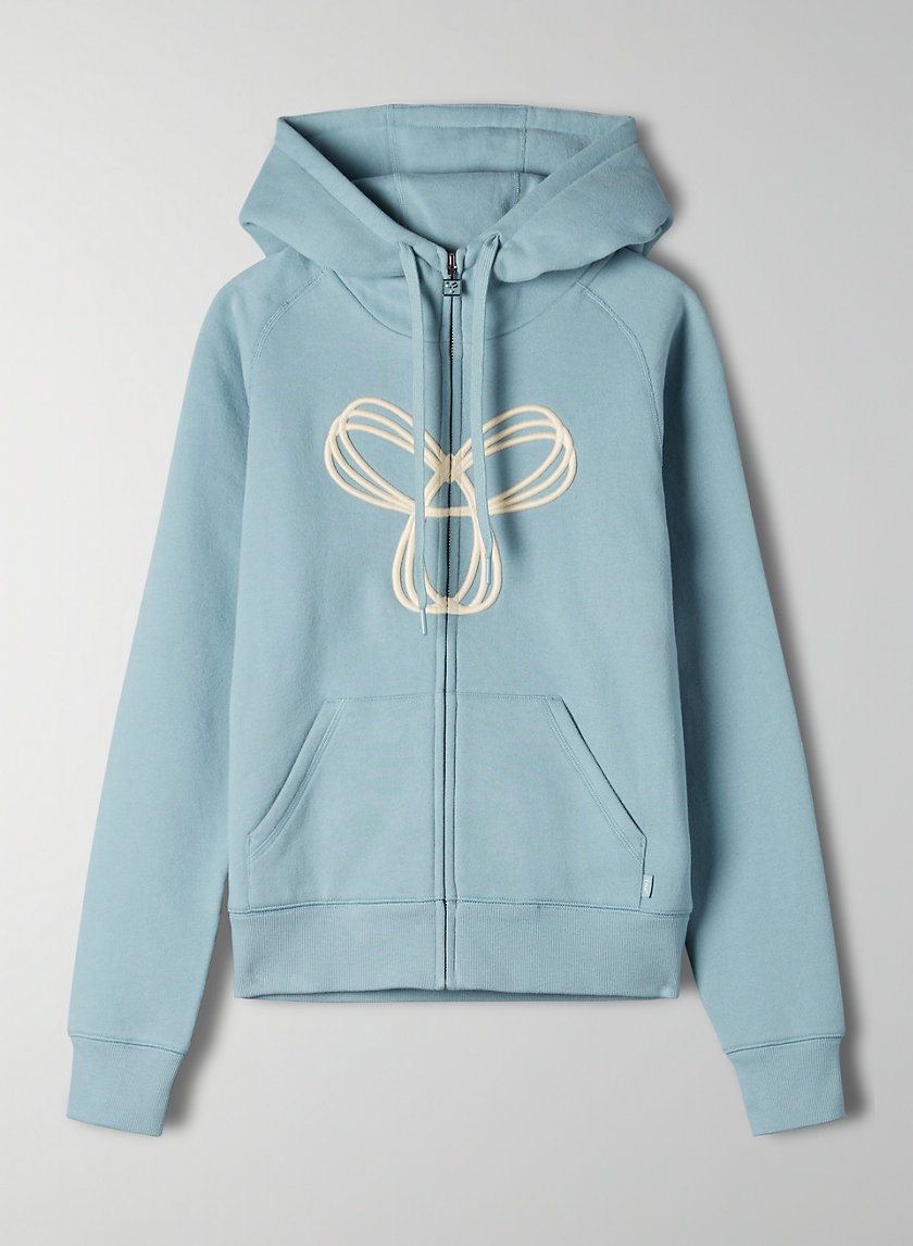 PACIFIC HOODIE - Embroidered zip-up hoodie