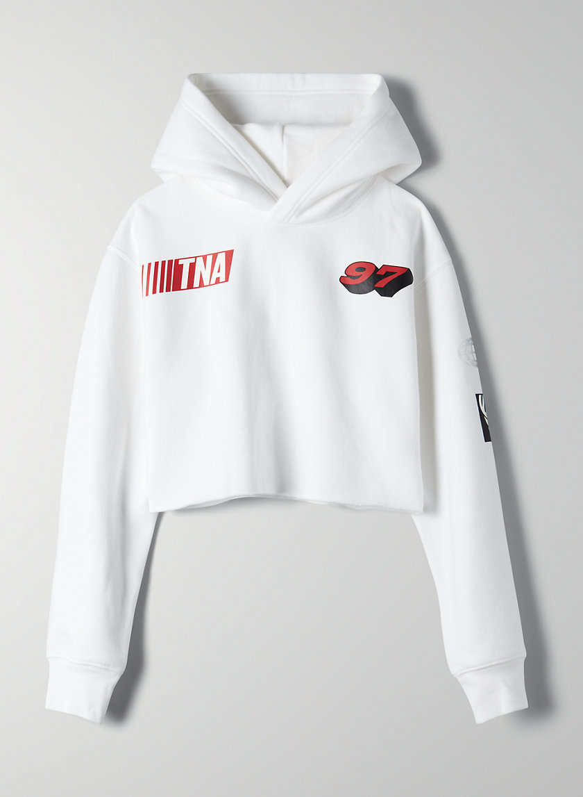 PERFECT CROPPED HOODIE - Cropped graphic hoodie