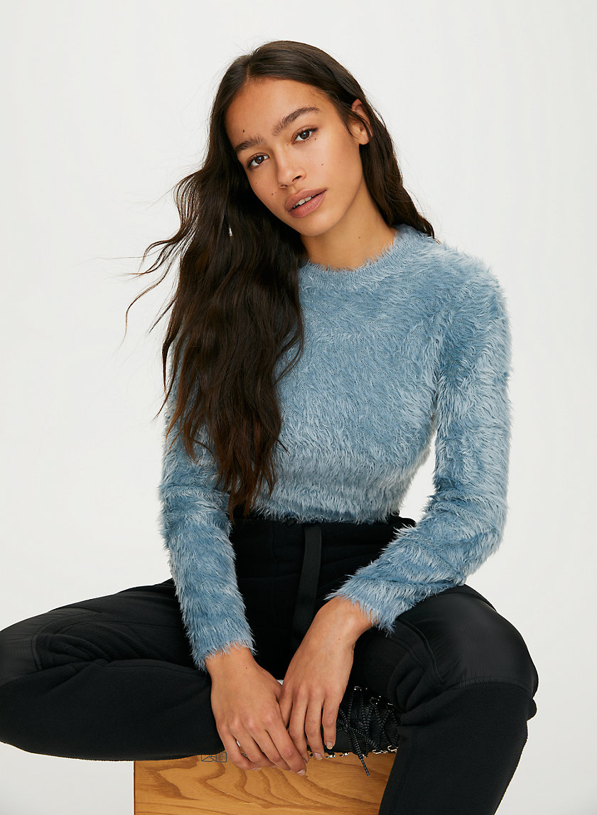 MONTAUK SWEATER - Fuzzy crew-neck sweater
