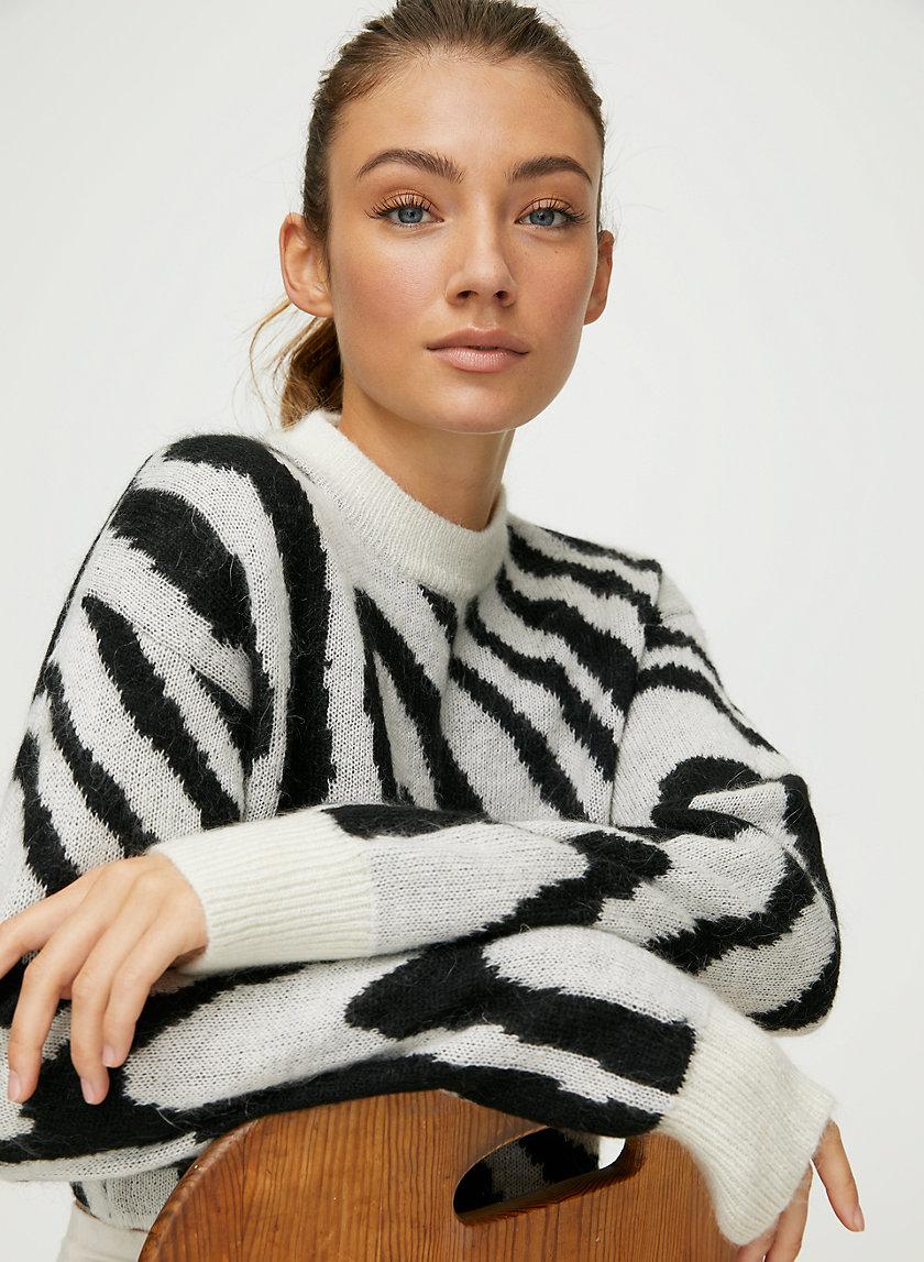 UTICA SWEATER - Large-scale animal-print sweater