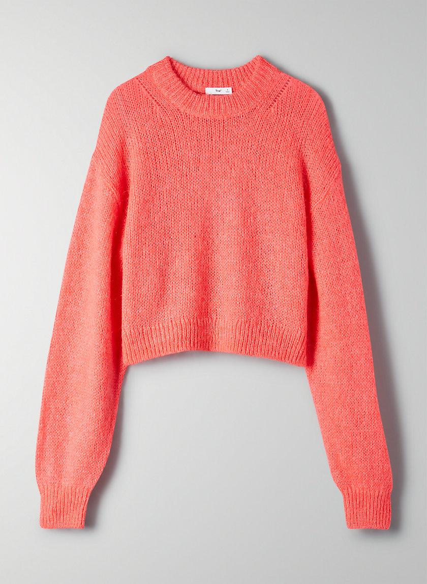 UTICA SWEATER - Fuzzy crew-neck cropped sweater
