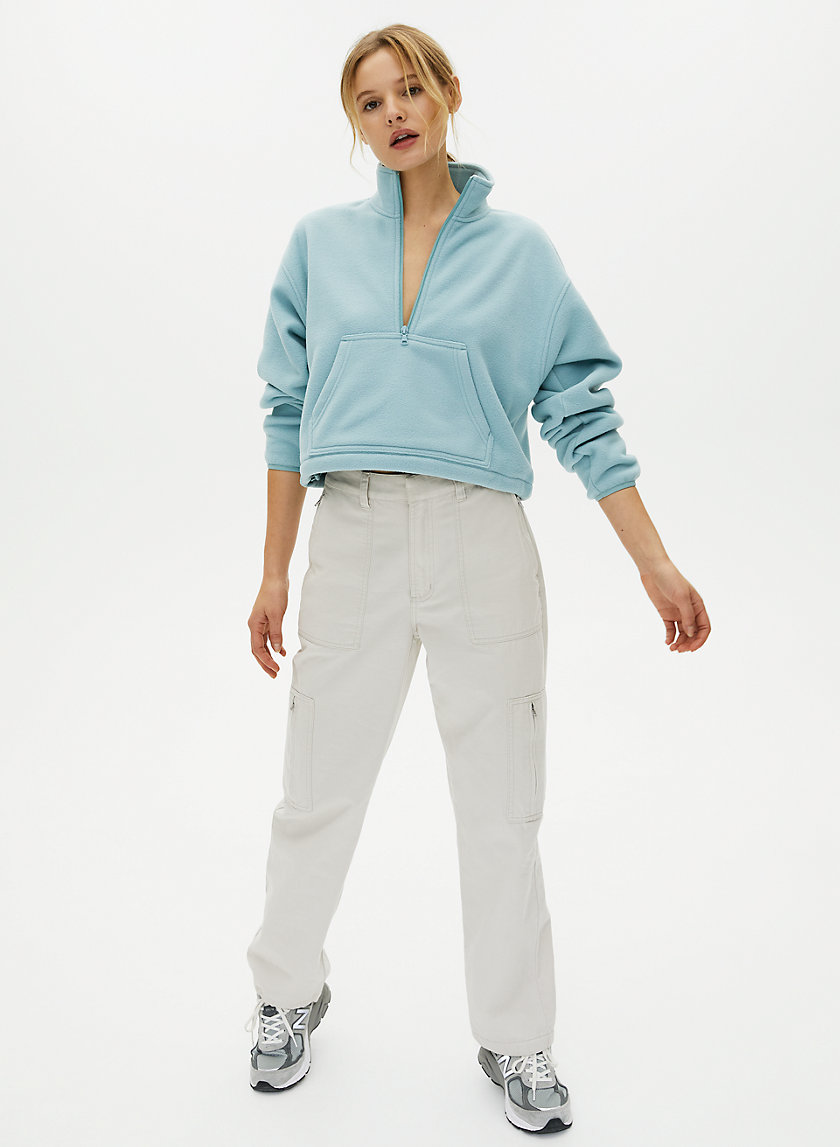 LENA SWEATER - Cropped fleece sweater
