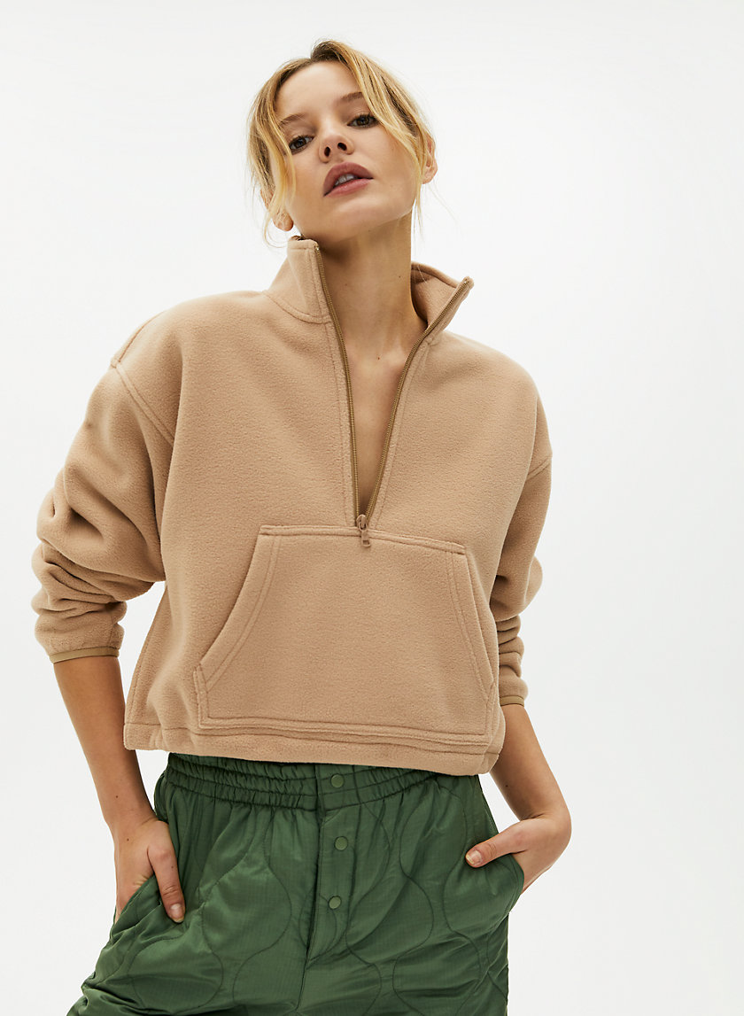 LENA SWEATER - Cropped fleece sweater