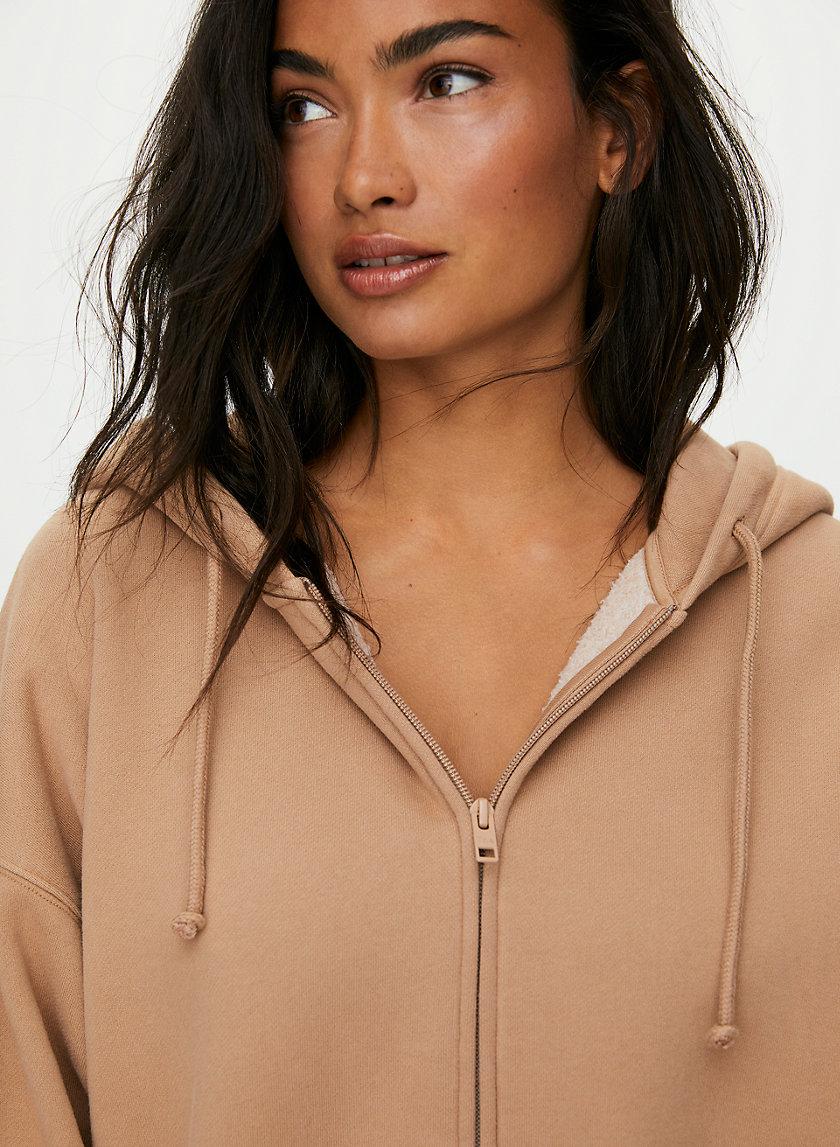 BOYFRIEND ZIP HOODIE - Oversized zip-up hoodie