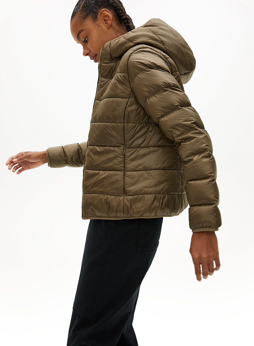 THE LITTLE FUZZY PUFF - Lined goose-down puffer jacket