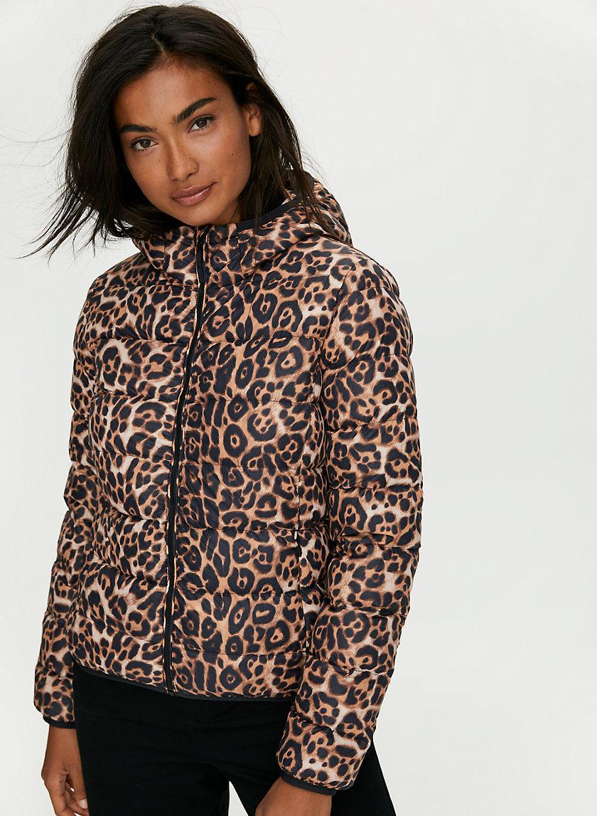 THE LITTLE PUFF - Leopard-print goose-down puffer jacket