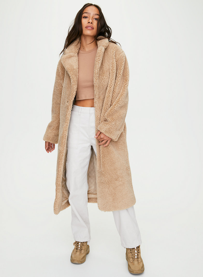 RUSH COAT - Long sherpa coat