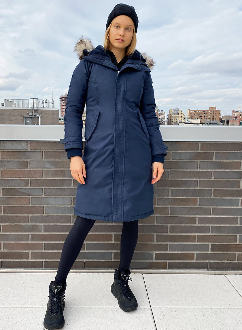 SUMMIT LONG PARKA - Long goose-down parka jacket
