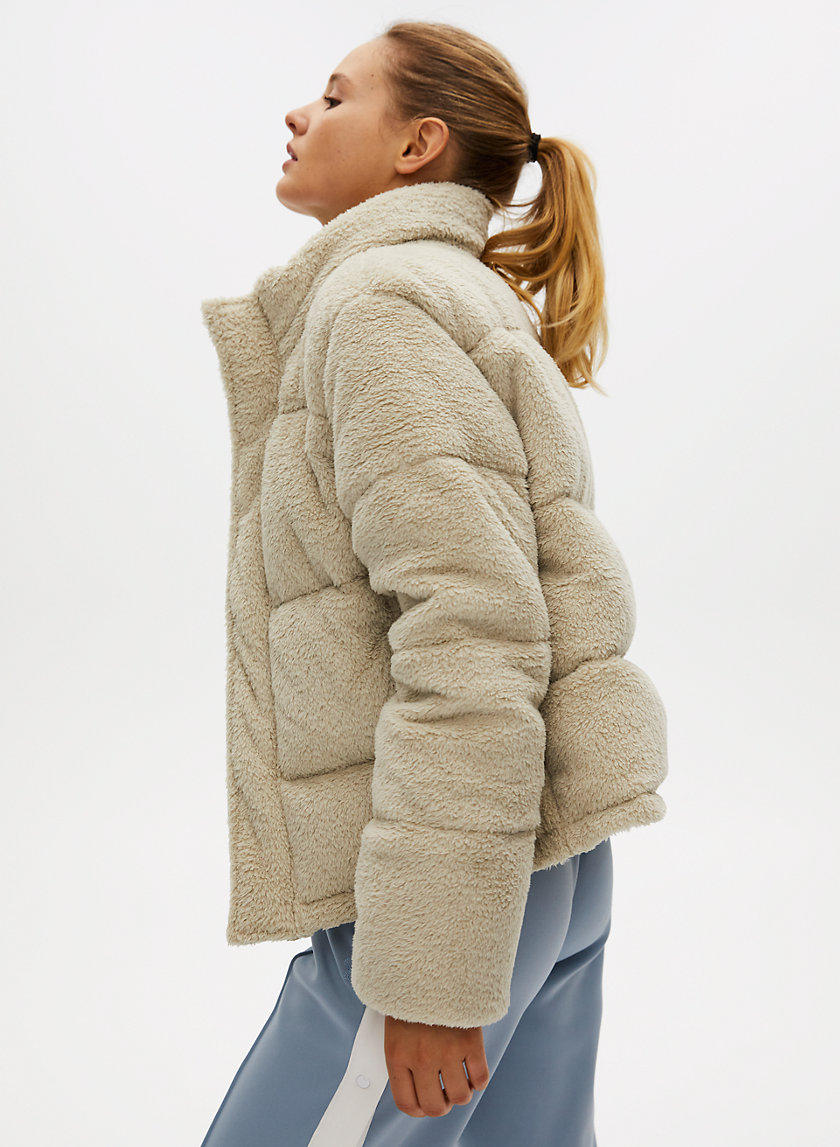 THE SUPER PUFF™ FUZZY SHORTY - Teddy puffer jacket