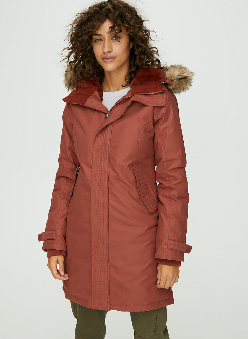 SUMMIT PARKA - Goose-down parka with faux fur hood