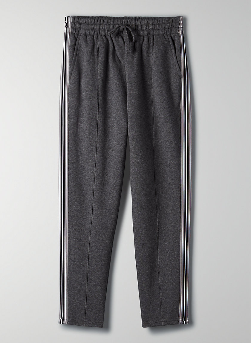 THE ICONIC SWEATPANT - Fleece sweatpant with side stripe