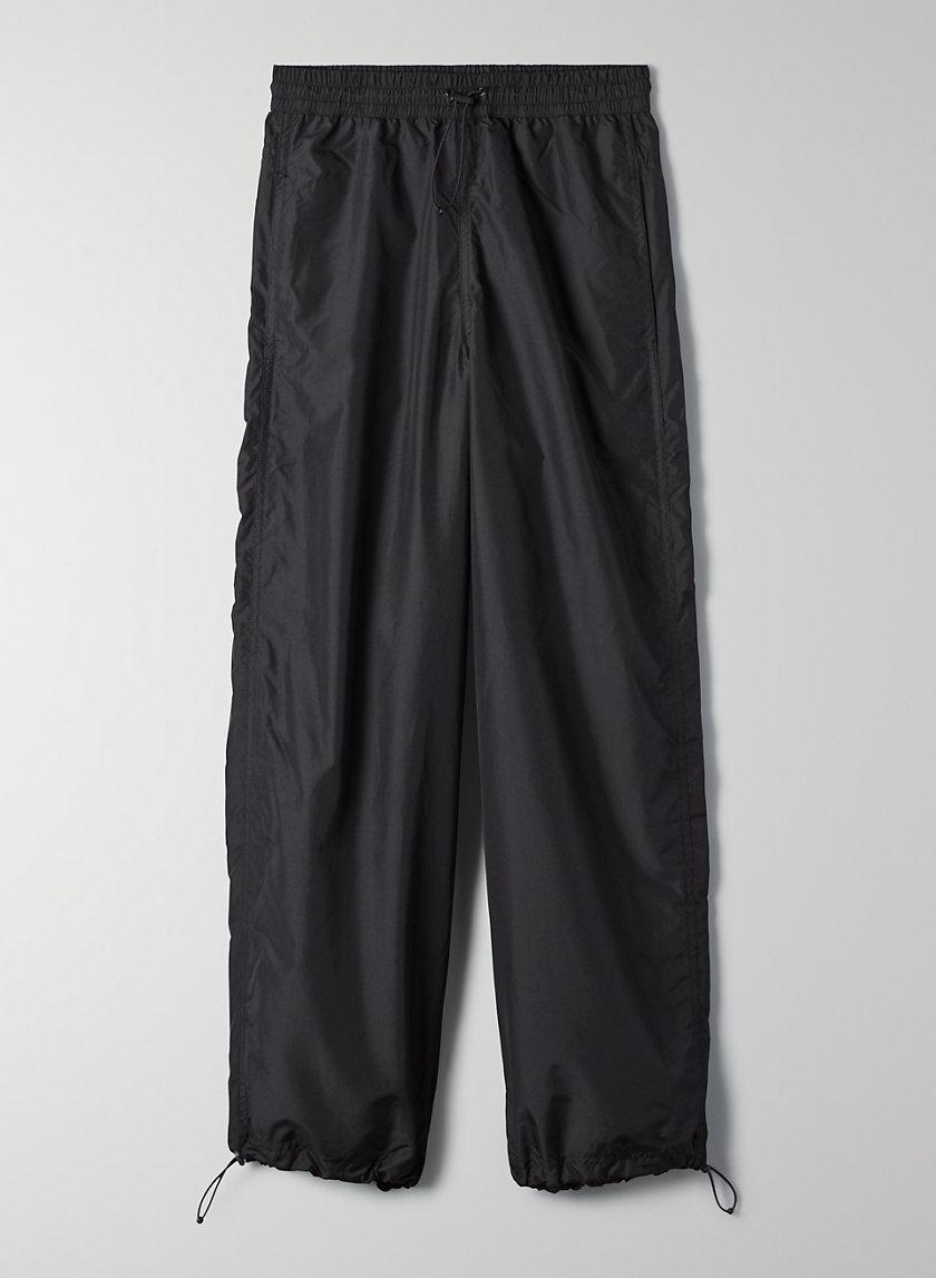 REDONDO PANT - Wide-leg shiny military pants