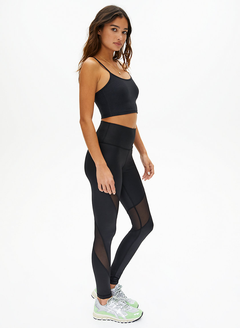 CYCLONE LEGGING - Shiny high-rise leggings