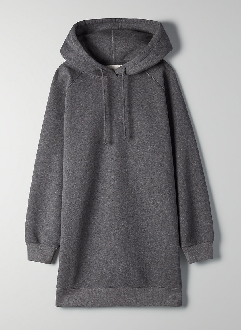 VENTA DRESS - Oversized, hooded, sweatshirt dress